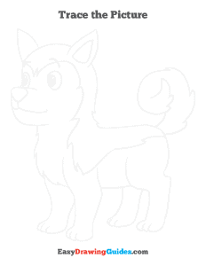 335 how to draw a husky - ebook-trace-page-thumbnail