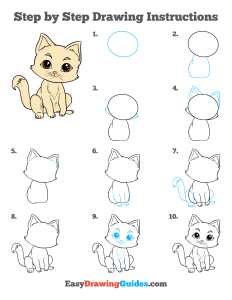 449 how to draw a kitten - ebook step page thumbnail 300h