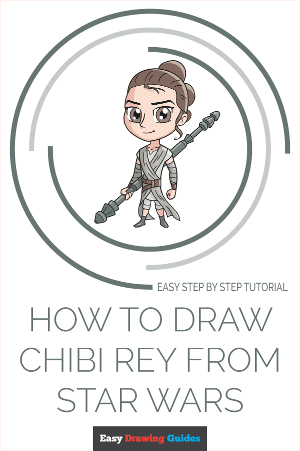 how to draw chibi rey from star wars pinterest image