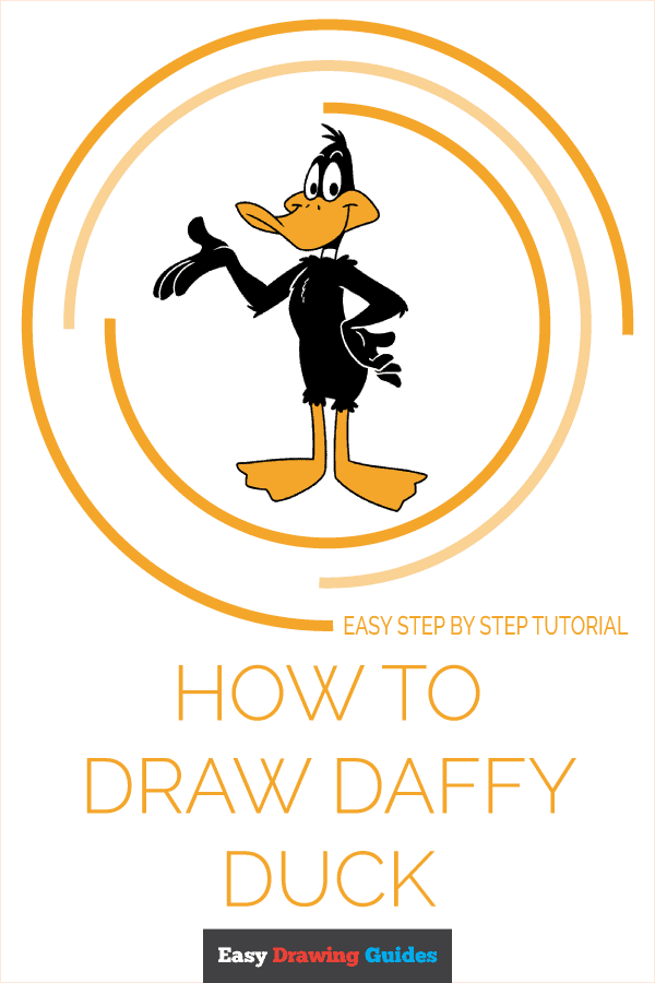 How to Draw Daffy Duck Pinterest Image