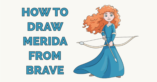 How to Draw Merida from Brave Featured Image