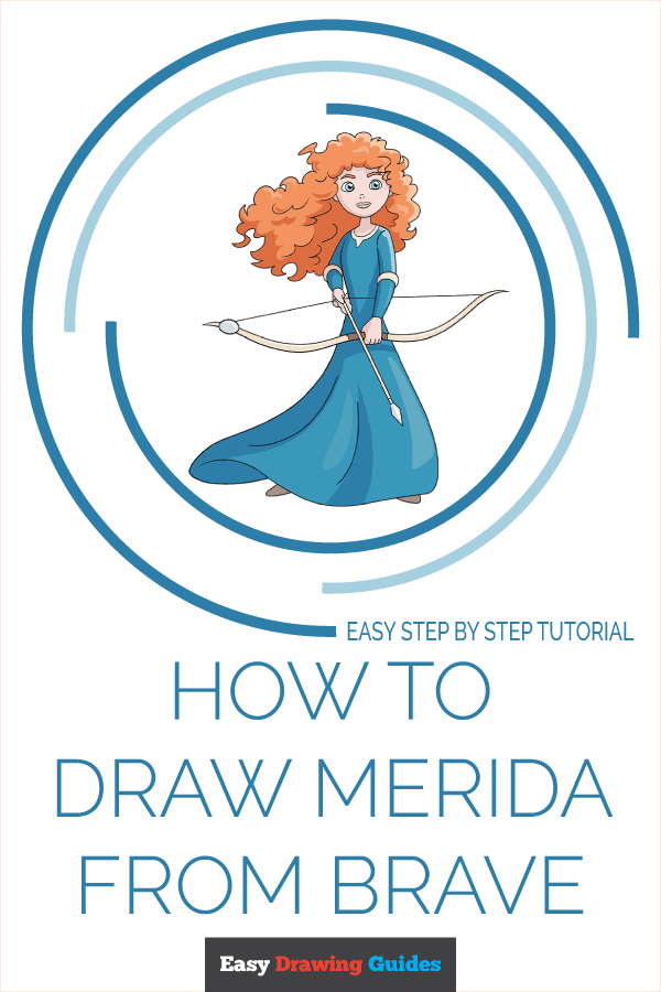 How to Draw Merida from Brave Pinterest Image