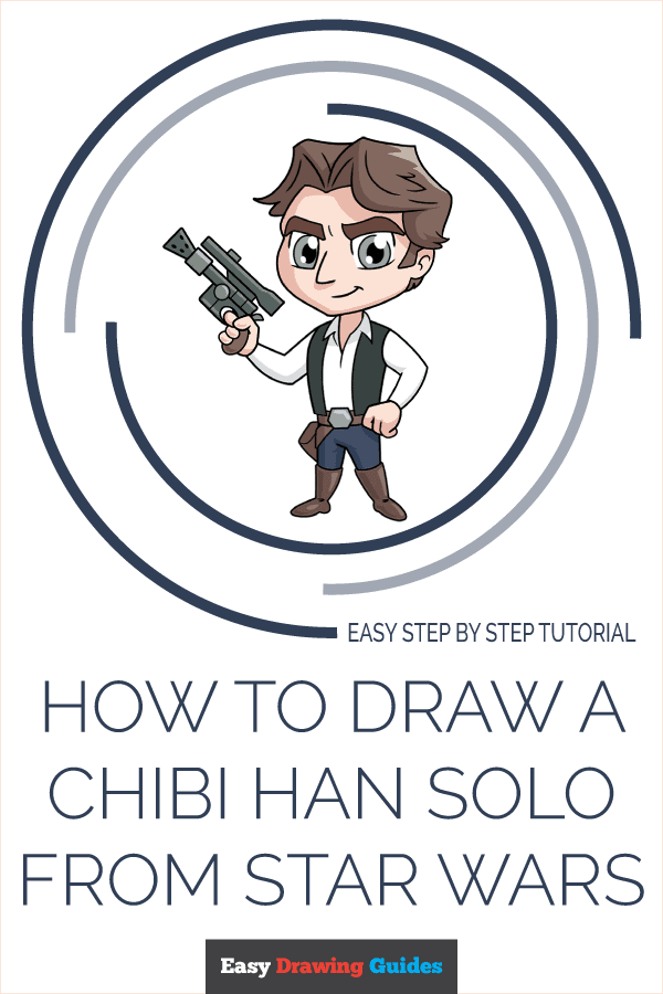 How to Draw a Chibi Han Solo from Star Wars Pinterest Image