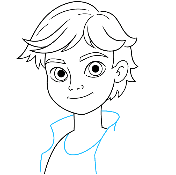 how to draw adrien agreste from miraculous featured image 08