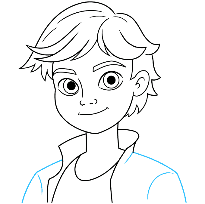 how to draw adrien agreste from miraculous featured image 09
