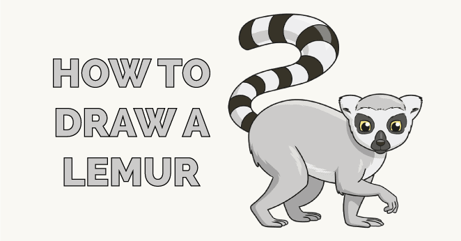 how to draw a lemur featured image