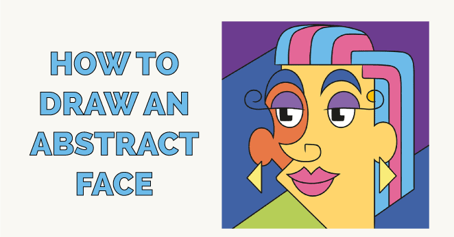 how to draw an abstract face featured image