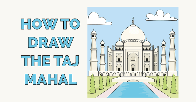 how to draw the taj mahal featured image