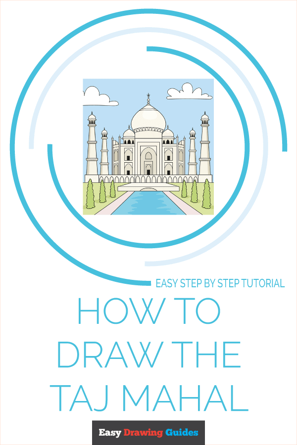 how to draw the taj mahal pinterest image