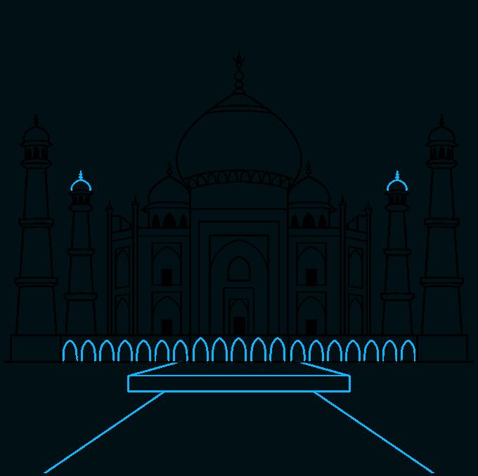 the taj mahal step-by-step drawing tutorial: step 08