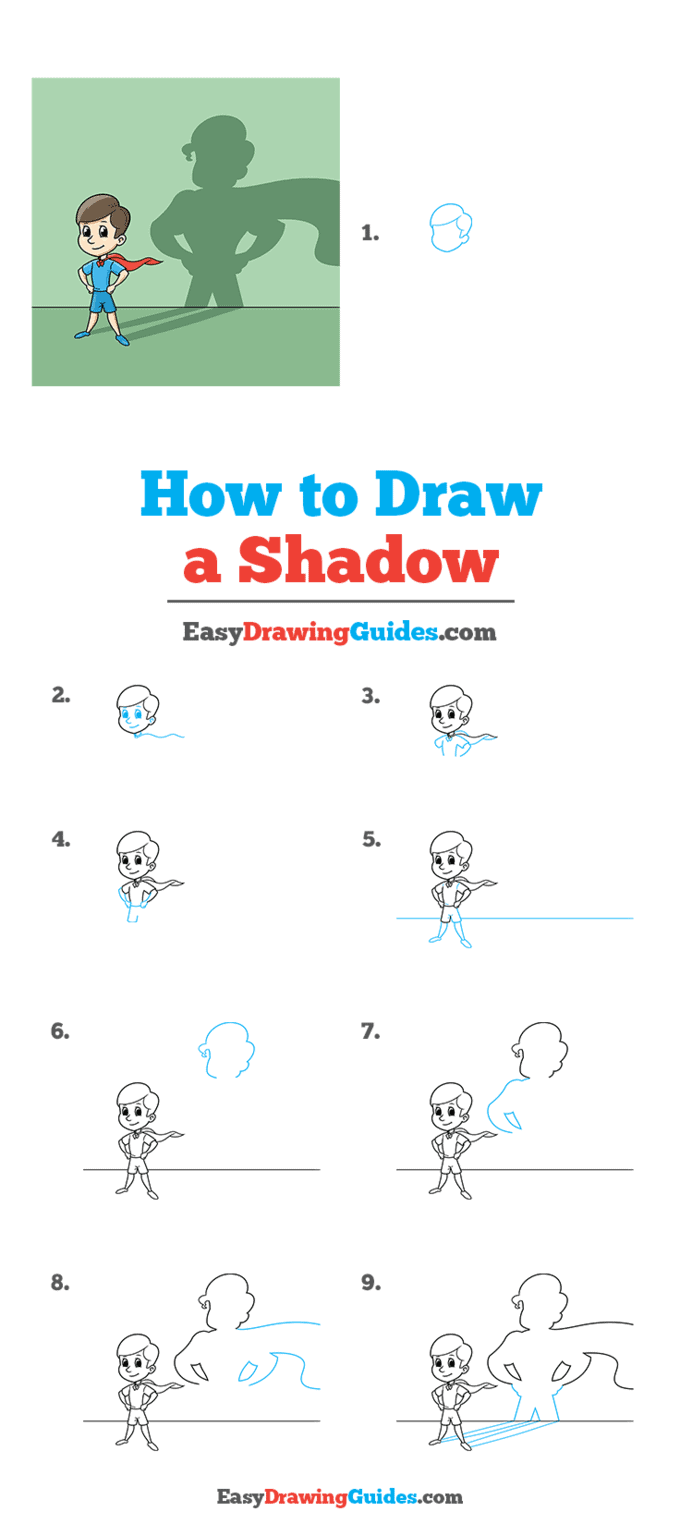 how to draw a shadow step by step tutorial image