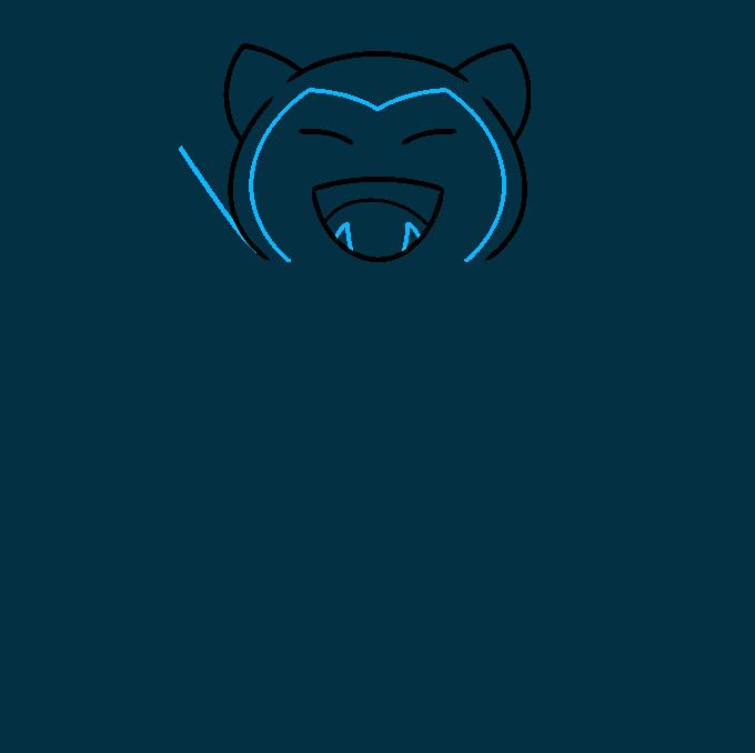 snorlax pokémon step-by-step drawing tutorial: step 03