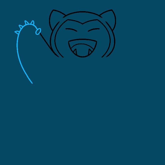 snorlax pokémon step-by-step drawing tutorial: step 04