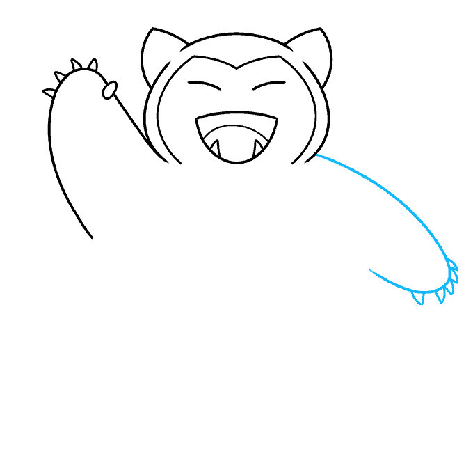snorlax pokémon step-by-step drawing tutorial: step 05