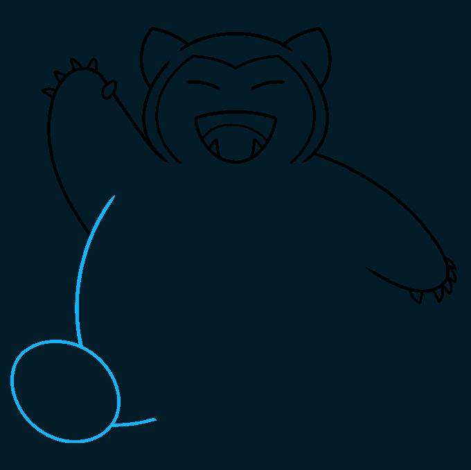snorlax pokémon step-by-step drawing tutorial: step 06