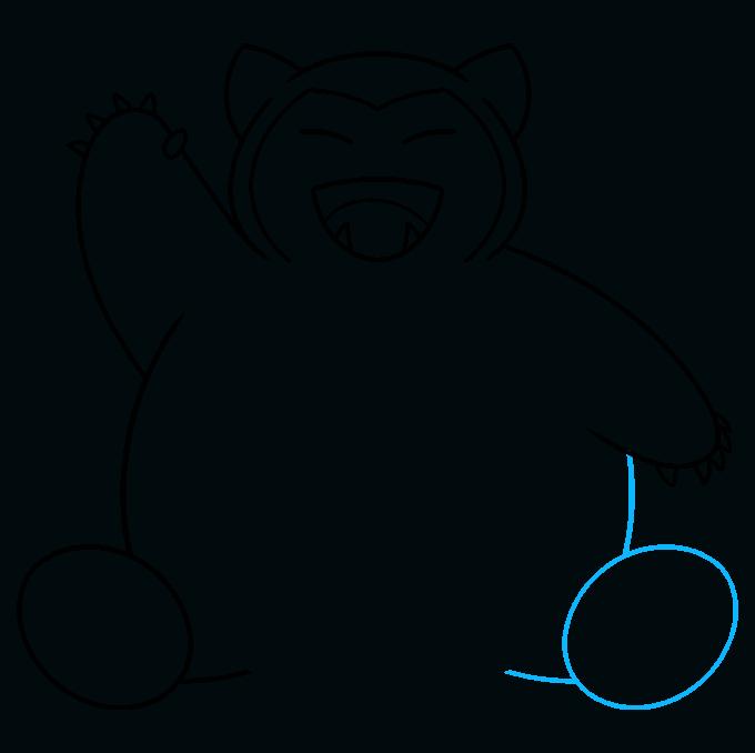 snorlax pokémon step-by-step drawing tutorial: step 07
