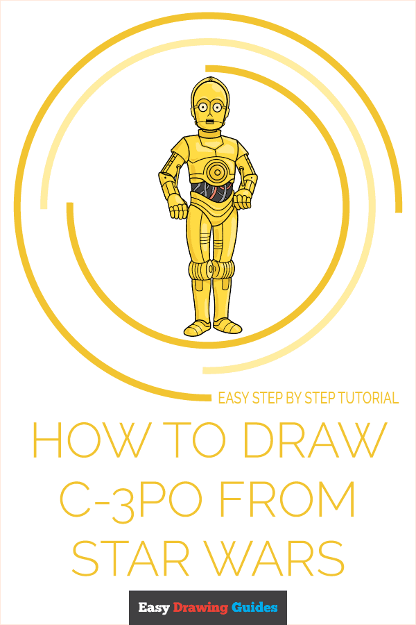 how to draw c-3po from star wars pinterest image