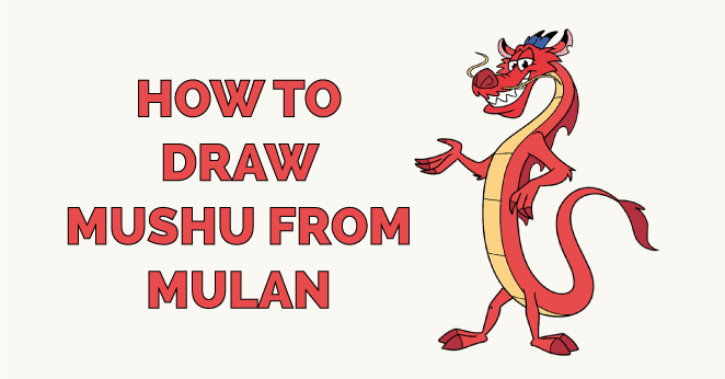 how to draw mushu from mulan featured image