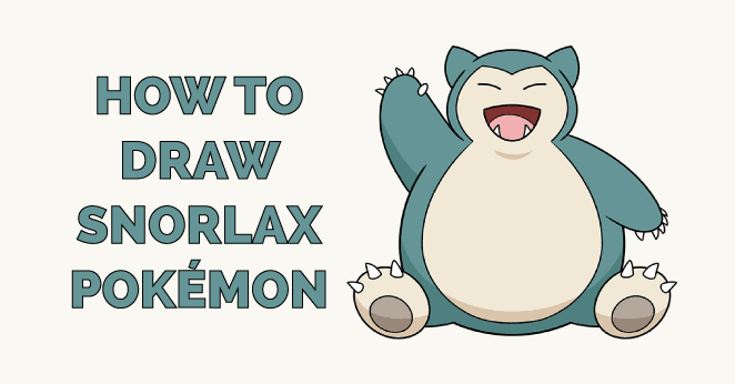 how to draw snorlax pokemon featured image