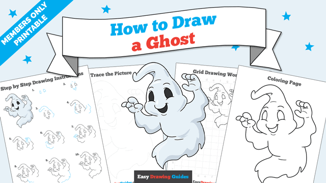 Printables thumbnail: How to Draw a Ghost