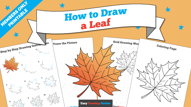 Printables thumbnail: How to Draw a Leaf