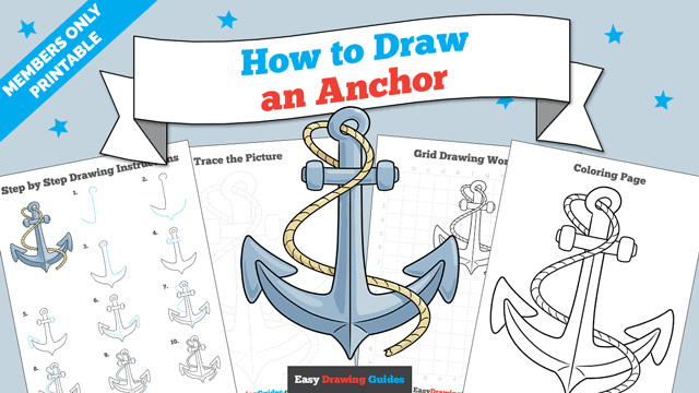 Printables thumbnail: How to Draw an Anchor