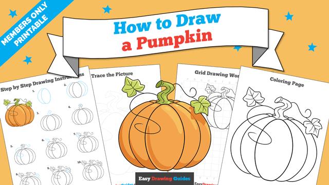 Printables thumbnail: How to Draw a Pumpkin