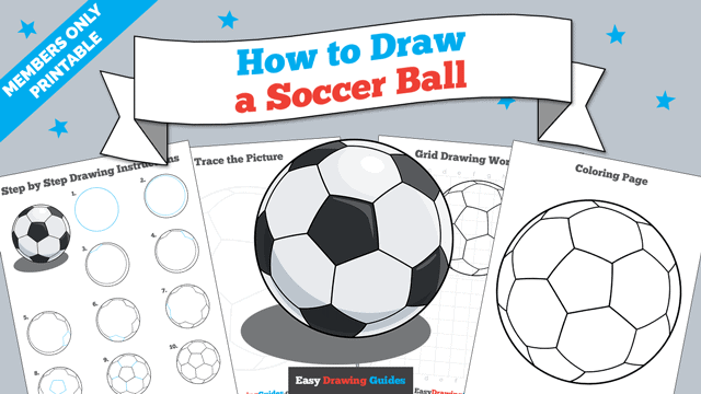 Printables thumbnail: How to Draw a Soccer Ball
