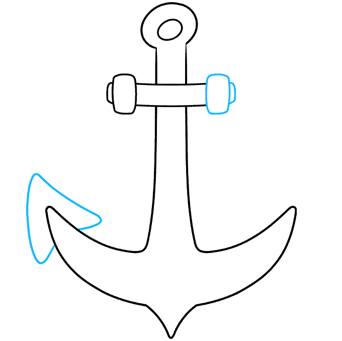 Anchor step-by-step drawing tutorial: step 05
