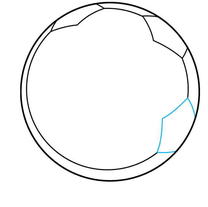 Soccer Ball step-by-step drawing tutorial: step 05
