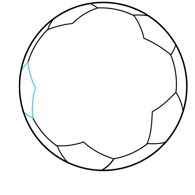 Soccer Ball step-by-step drawing tutorial: step 07