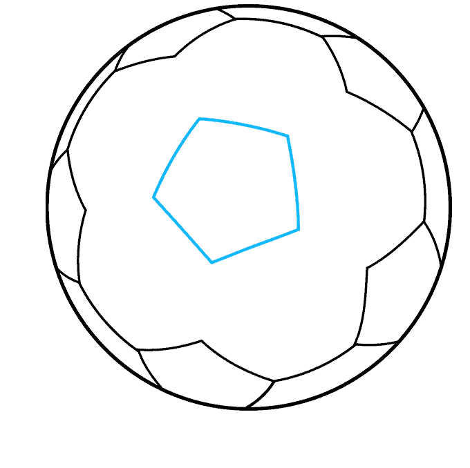 Soccer Ball step-by-step drawing tutorial: step 08