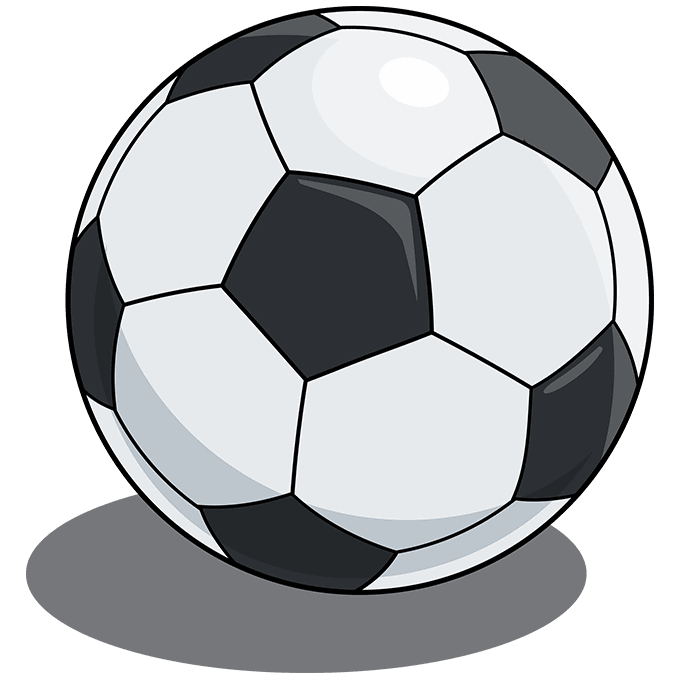 Soccer Ball step-by-step drawing tutorial: step 10