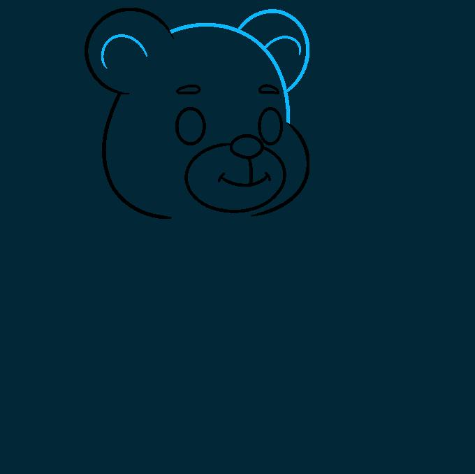Teddy Bear step-by-step drawing tutorial: step 04