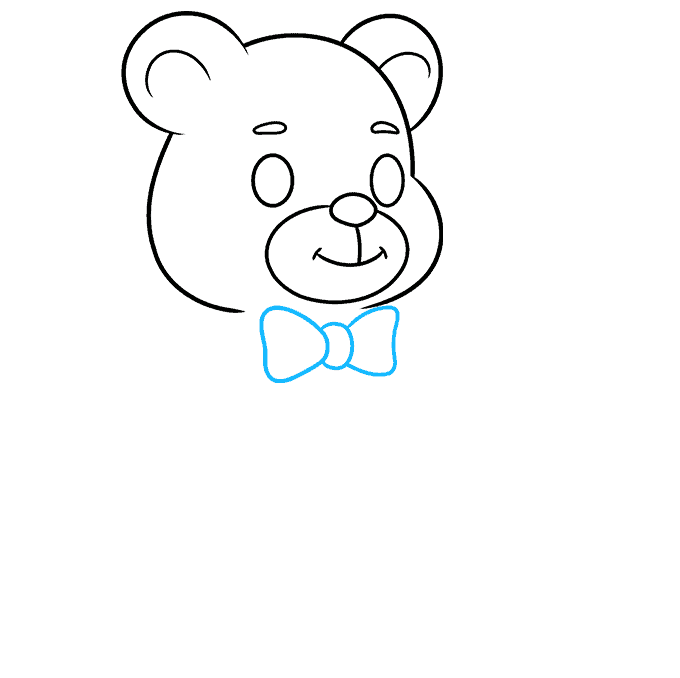 Teddy Bear step-by-step drawing tutorial: step 05