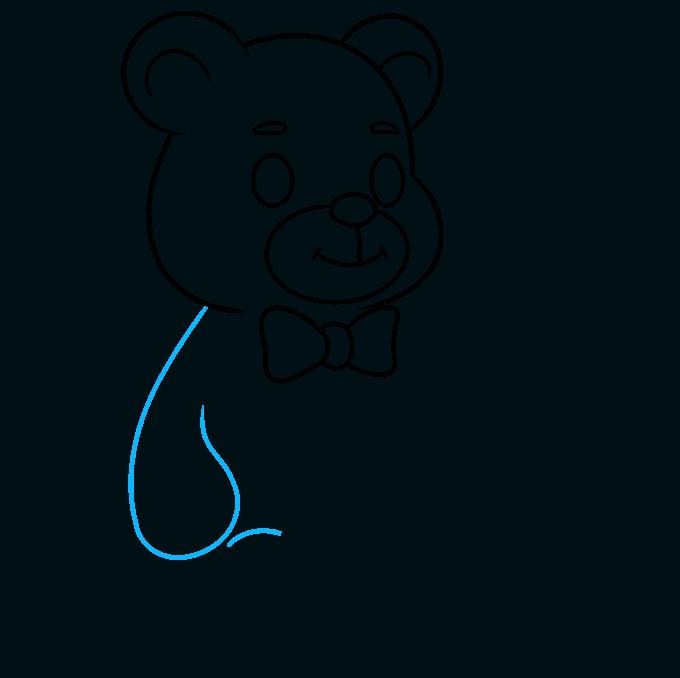 Teddy Bear step-by-step drawing tutorial: step 06