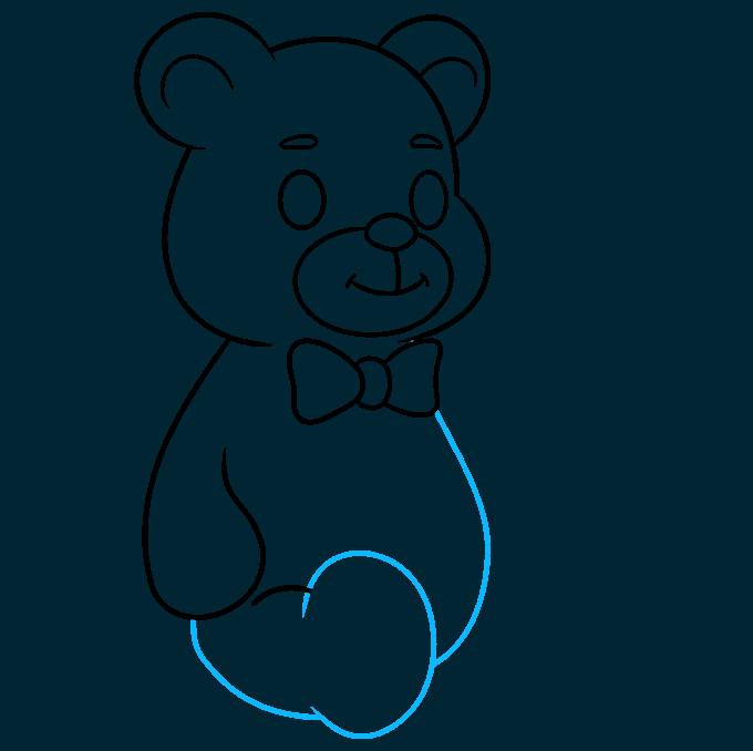 Teddy Bear step-by-step drawing tutorial: step 07