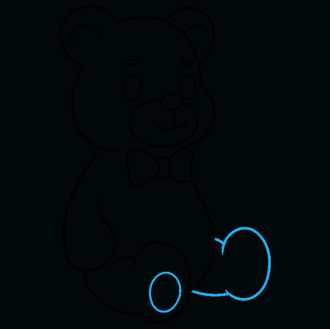 Teddy Bear step-by-step drawing tutorial: step 08