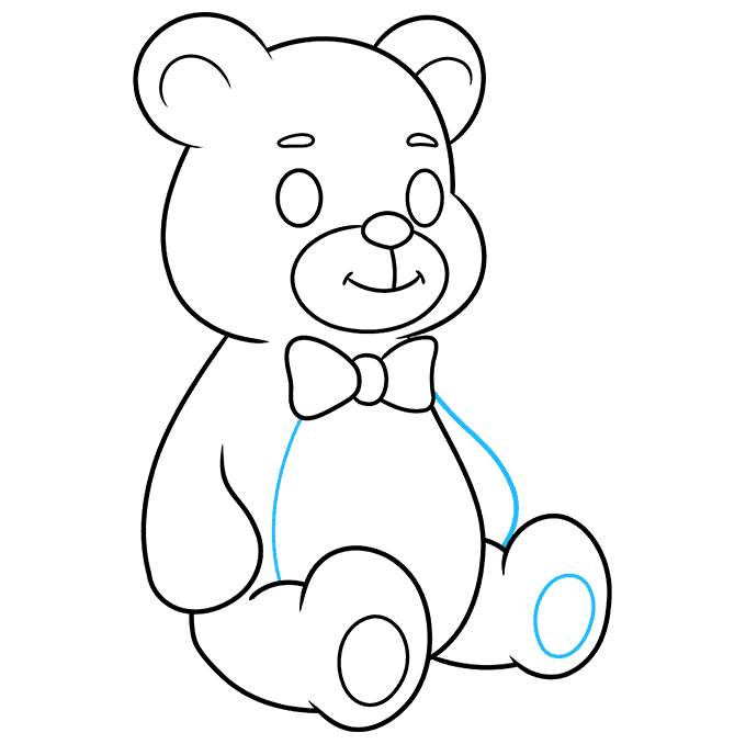Teddy Bear step-by-step drawing tutorial: step 09