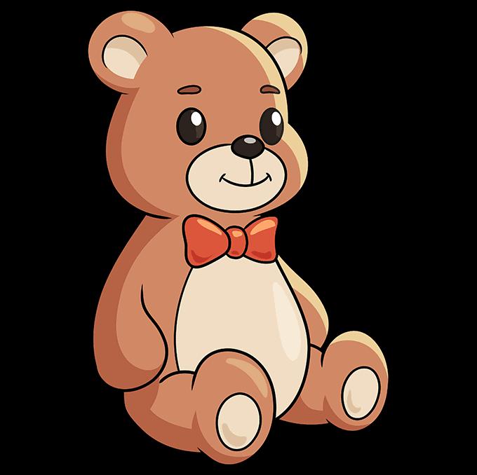 Teddy Bear step-by-step drawing tutorial: step 10