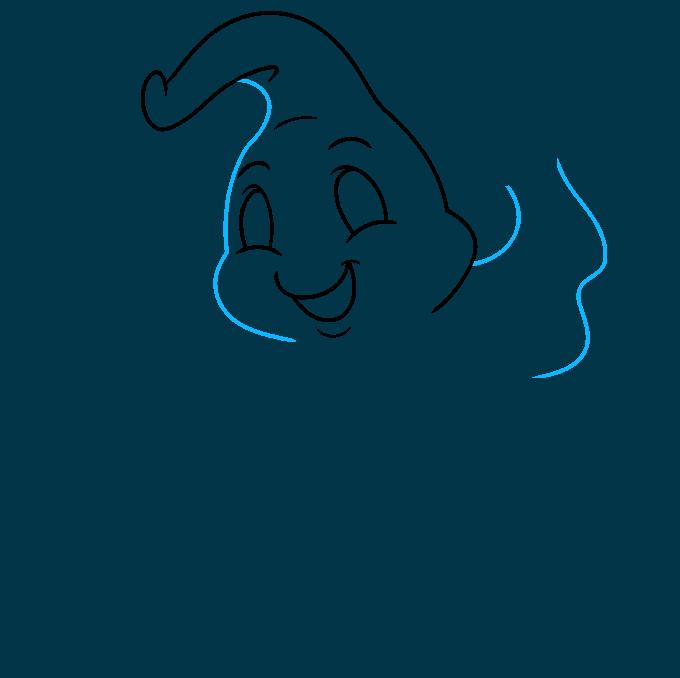 ghost step-by-step drawing tutorial: step 04