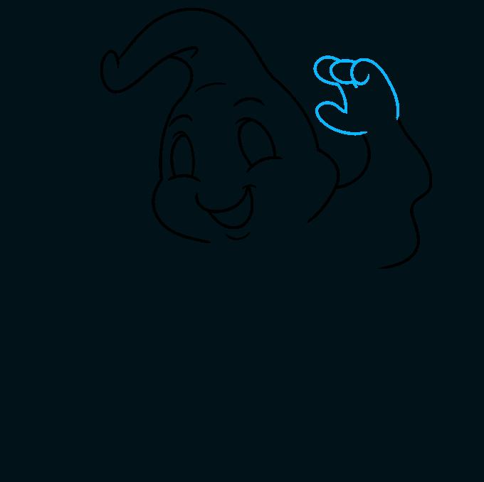 ghost step-by-step drawing tutorial: step 05