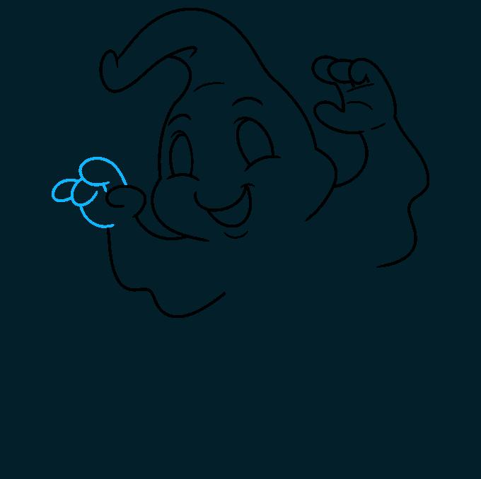 ghost step-by-step drawing tutorial: step 07