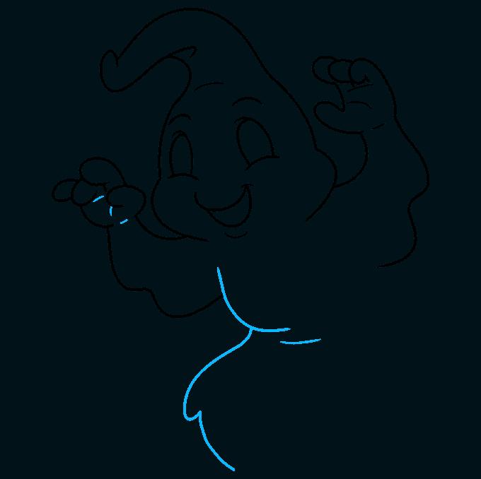 ghost step-by-step drawing tutorial: step 08