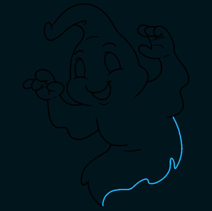 ghost step-by-step drawing tutorial: step 09