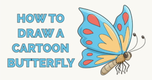 how to draw a cartoon butterfly featured image