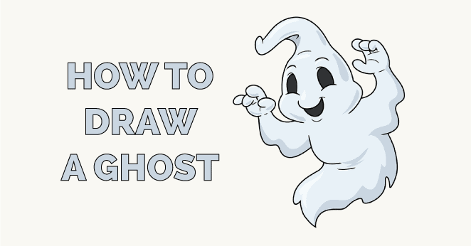 how to draw a ghost featured image