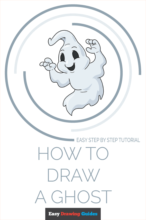 how to draw a ghost pinterest image