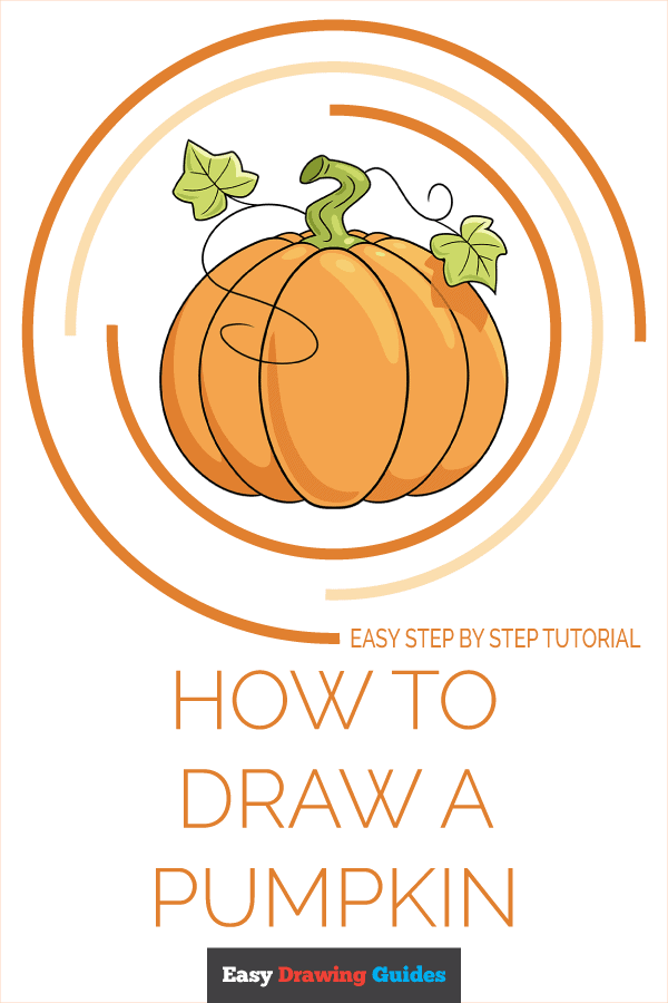 how to draw a pumpkin pinterest image