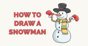 how to draw a snowman featured image